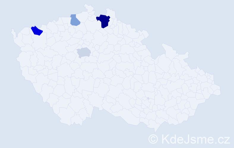 Příjmení: 'Larionov', počet výskytů 8 v celé ČR