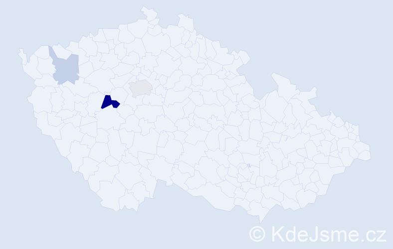 Příjmení: 'Kulmon', počet výskytů 7 v celé ČR