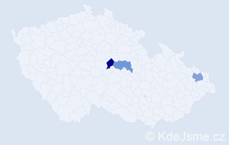 Příjmení: 'Ceľuchová', počet výskytů 4 v celé ČR