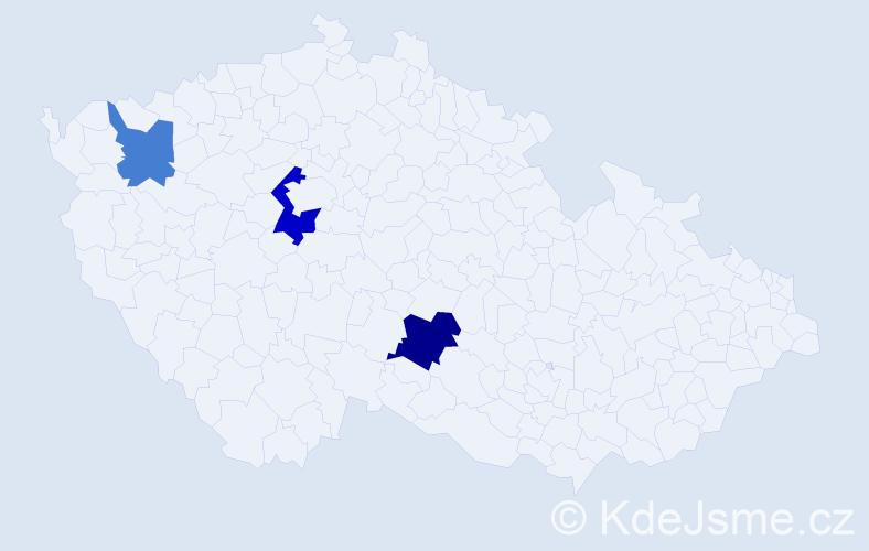 Příjmení: 'England', počet výskytů 5 v celé ČR