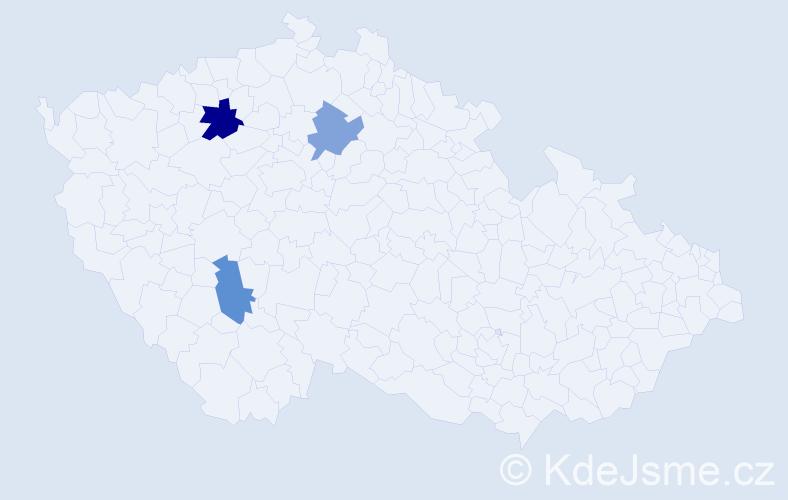 Příjmení: 'Hackerschmiedová', počet výskytů 4 v celé ČR