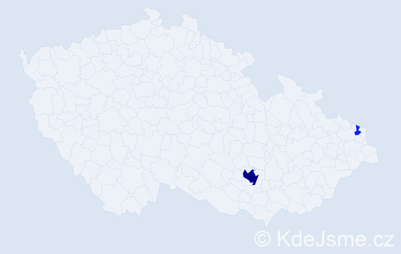Příjmení: 'Jagelský', počet výskytů 8 v celé ČR