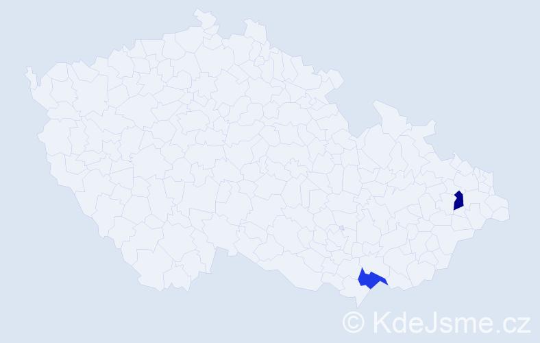Příjmení: 'Foriška', počet výskytů 2 v celé ČR