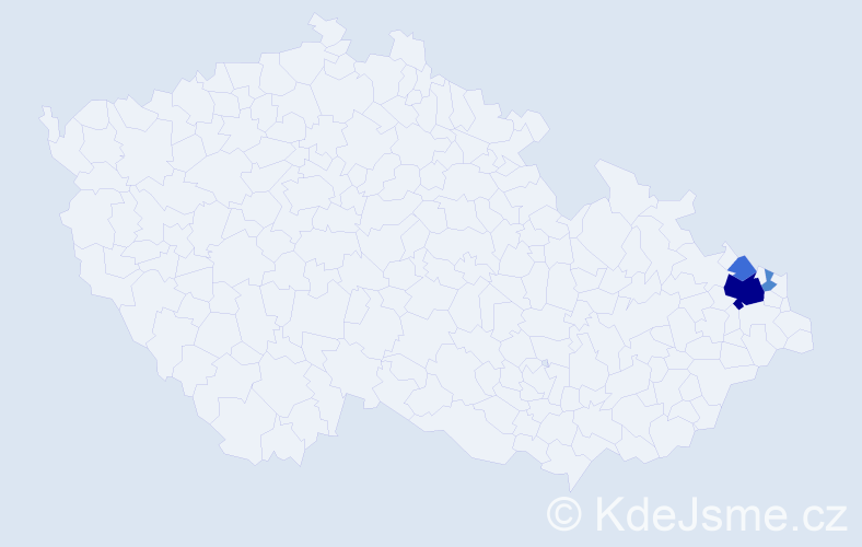 Příjmení: 'Čapča', počet výskytů 11 v celé ČR