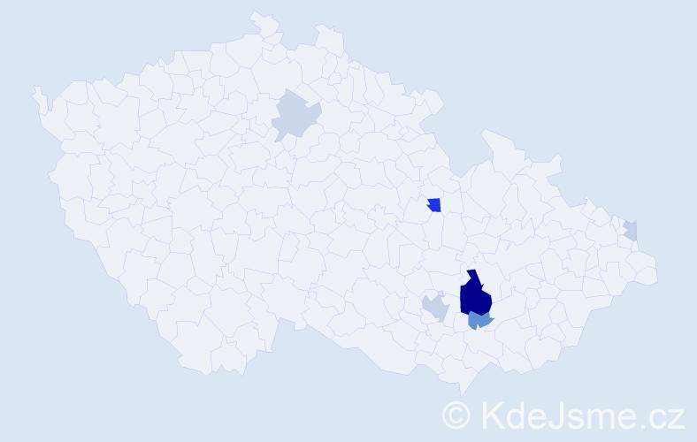 Příjmení: 'Helleportová', počet výskytů 16 v celé ČR