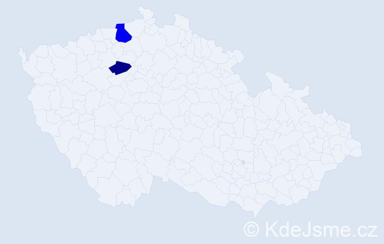 Příjmení: 'Isop', počet výskytů 3 v celé ČR