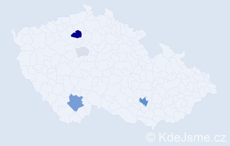 Příjmení: 'Člaňková', počet výskytů 6 v celé ČR
