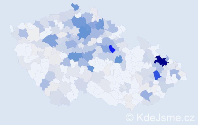 Příjmení: 'Hendrychová', počet výskytů 1210 v celé ČR