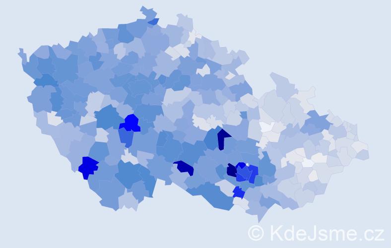Příjmení: 'Kříž', počet výskytů 7153 v celé ČR