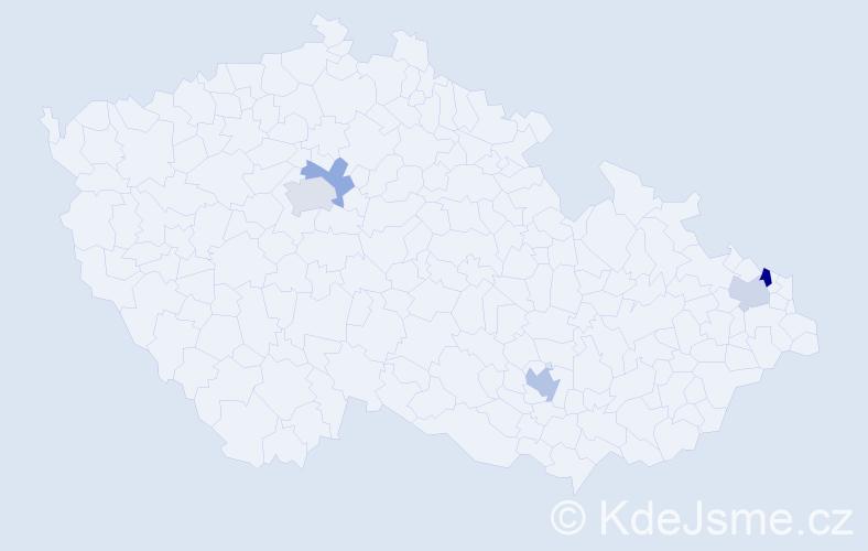 Příjmení: 'Deutschmannová', počet výskytů 8 v celé ČR