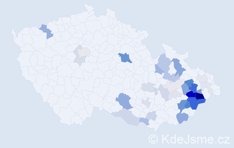 Příjmení: 'Goláň', počet výskytů 132 v celé ČR