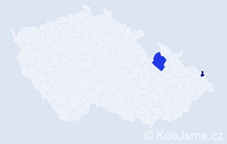 Příjmení: 'Hrycaj', počet výskytů 2 v celé ČR