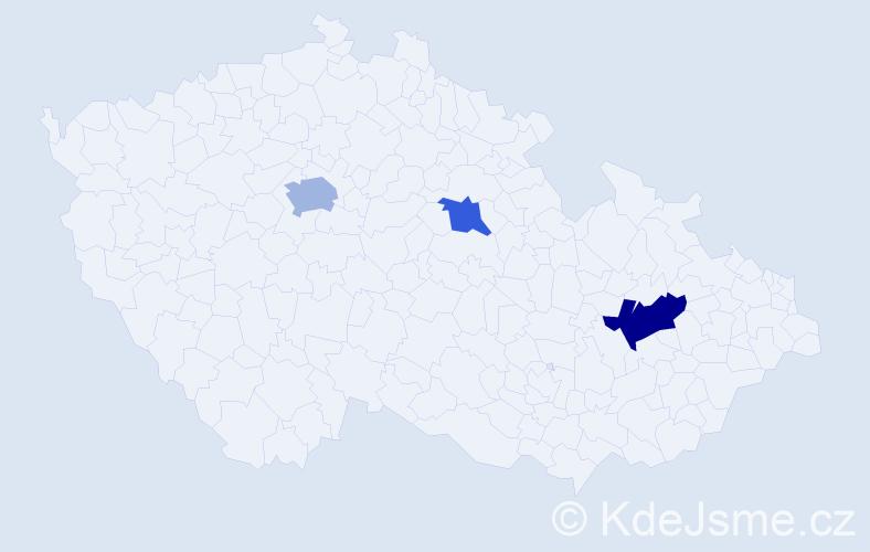 Příjmení: 'Isakov', počet výskytů 5 v celé ČR