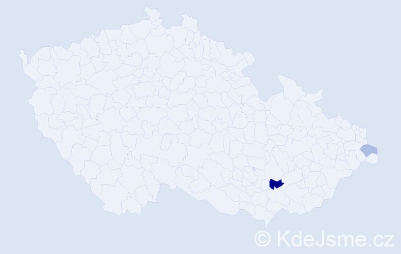 Příjmení: 'Kubalková', počet výskytů 3 v celé ČR