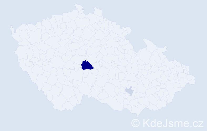 Příjmení: 'Hadfield', počet výskytů 5 v celé ČR