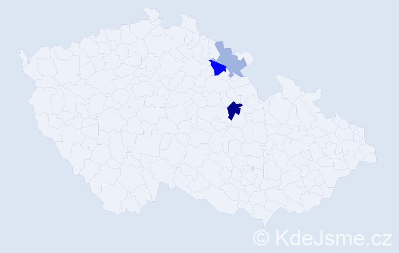Příjmení: 'Karmín', počet výskytů 7 v celé ČR