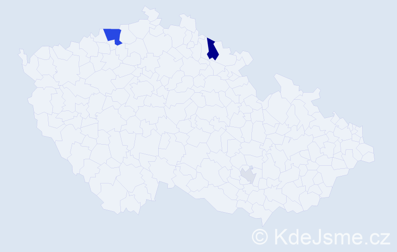 Příjmení: 'Helwig', počet výskytů 10 v celé ČR