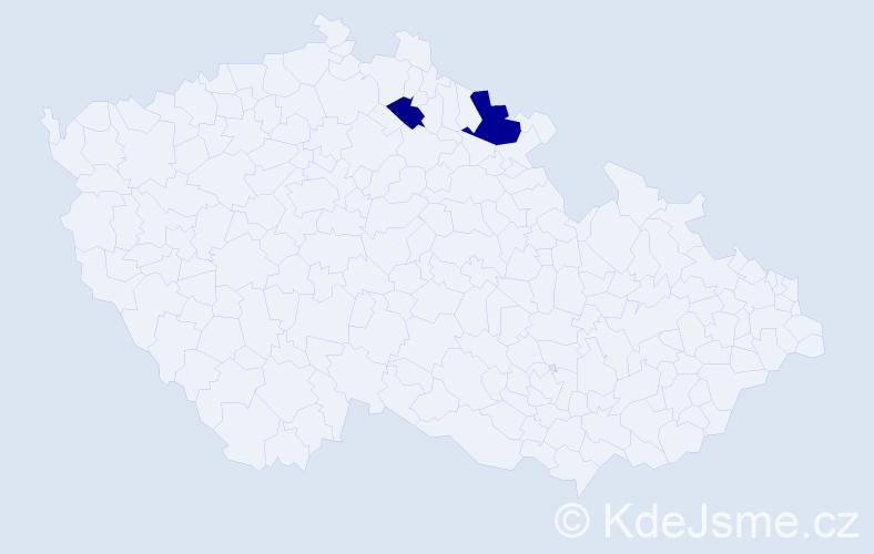 Příjmení: 'Comba', počet výskytů 3 v celé ČR
