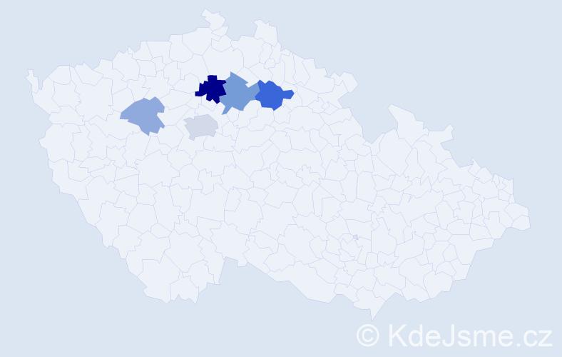 Příjmení: 'Kolumpková', počet výskytů 28 v celé ČR
