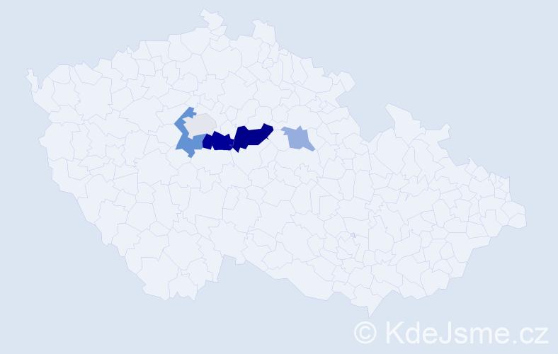 Příjmení: 'Körbl', počet výskytů 11 v celé ČR