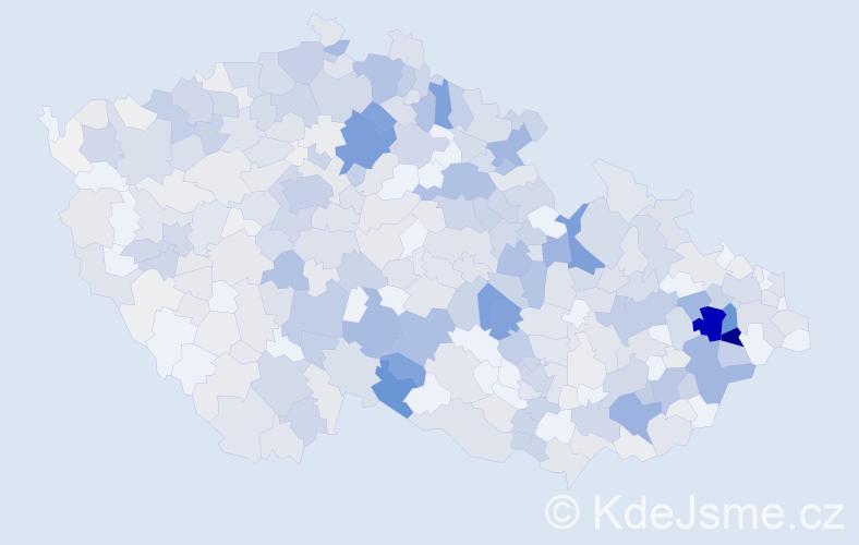 Příjmení: 'Bartoňová', počet výskytů 2459 v celé ČR