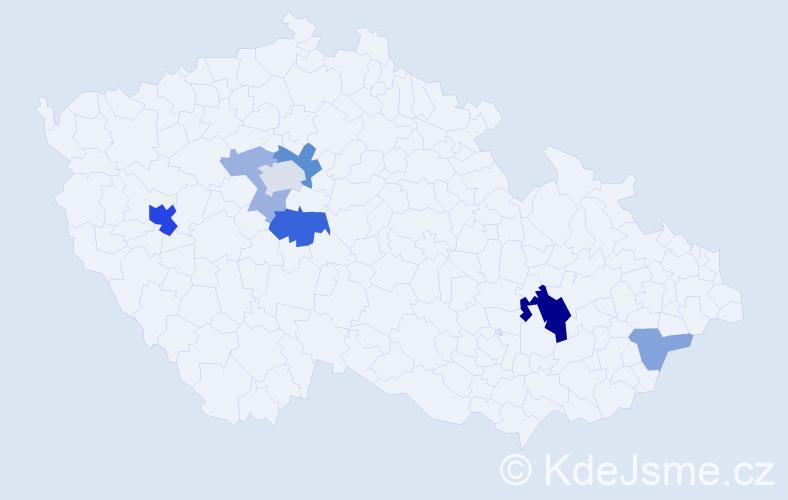 Příjmení: 'Hofschnaidrová', počet výskytů 19 v celé ČR