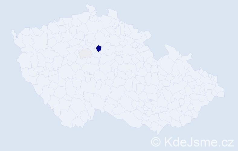 Příjmení: 'Kepartová', počet výskytů 4 v celé ČR