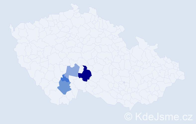 Příjmení: 'Ardolf', počet výskytů 14 v celé ČR