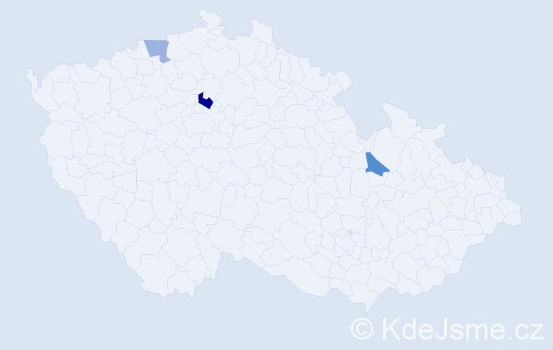 Příjmení: 'Facoun', počet výskytů 8 v celé ČR