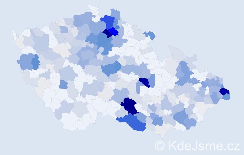 Příjmení: 'Bobek', počet výskytů 1174 v celé ČR