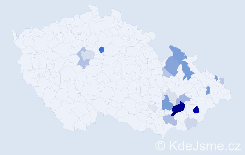Příjmení: 'Lejsalová', počet výskytů 67 v celé ČR