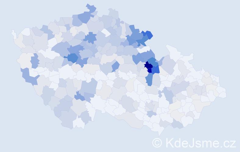 Příjmení: 'Jansová', počet výskytů 1339 v celé ČR