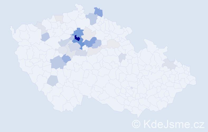 Příjmení: 'Čemus', počet výskytů 112 v celé ČR