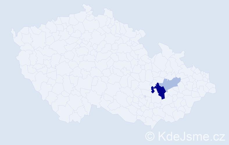Příjmení: 'Činoch', počet výskytů 6 v celé ČR