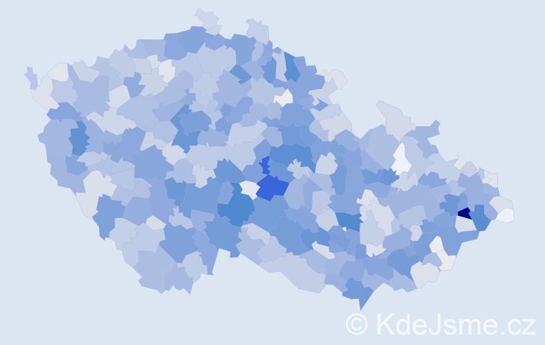 Příjmení: 'Blažková', počet výskytů 7487 v celé ČR