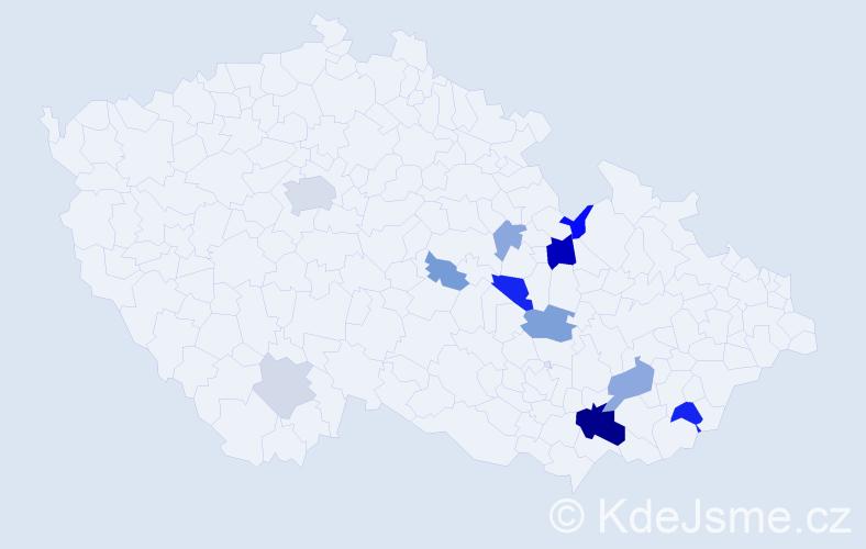 Příjmení: 'Karský', počet výskytů 28 v celé ČR