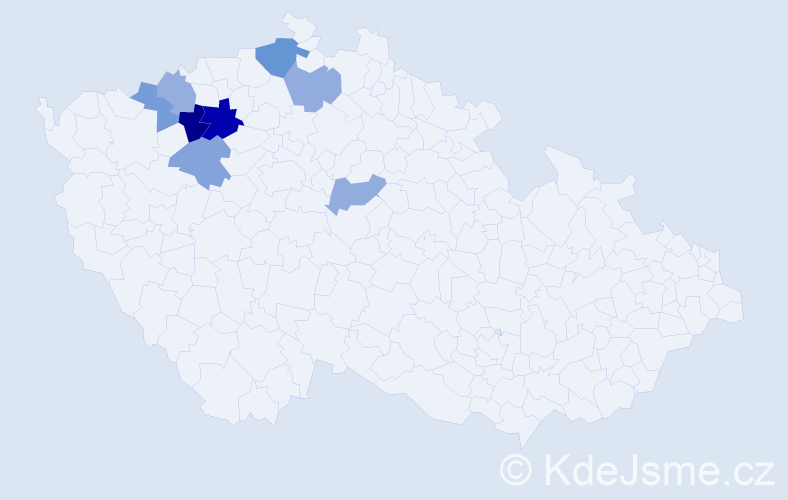 Příjmení: 'Jendrísková', počet výskytů 12 v celé ČR
