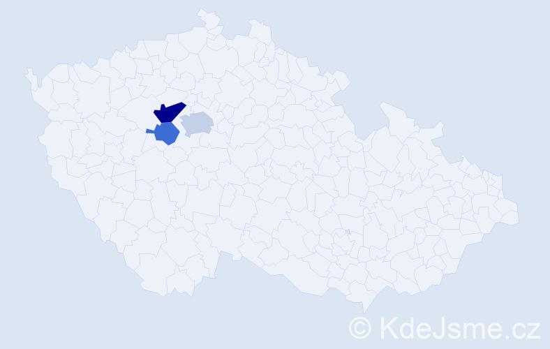Příjmení: 'Kochlíček', počet výskytů 6 v celé ČR