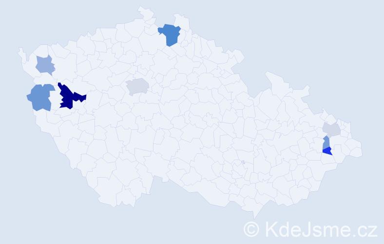 Příjmení: 'Bondrová', počet výskytů 16 v celé ČR