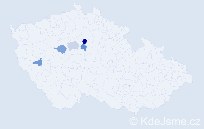 Příjmení: 'Horejc', počet výskytů 14 v celé ČR