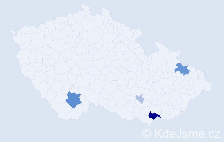 Příjmení: 'Bruce', počet výskytů 11 v celé ČR