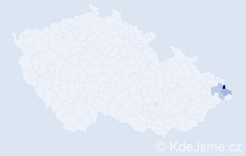 Příjmení: 'Hergovič', počet výskytů 6 v celé ČR
