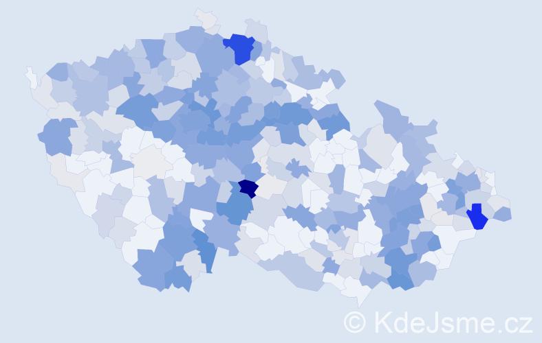 Příjmení: 'Kotková', počet výskytů 1532 v celé ČR