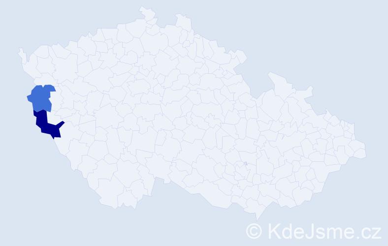 Příjmení: 'Čimpoješ', počet výskytů 3 v celé ČR