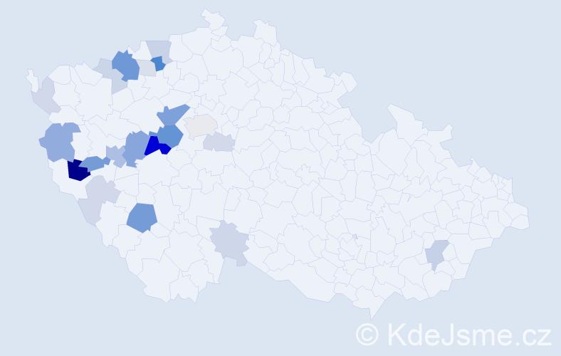 Příjmení: 'Elgrová', počet výskytů 63 v celé ČR