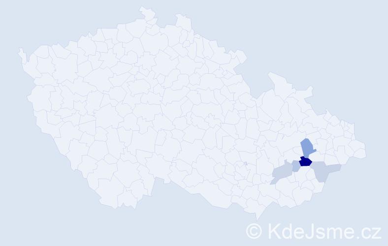 Příjmení: 'Icela', počet výskytů 14 v celé ČR