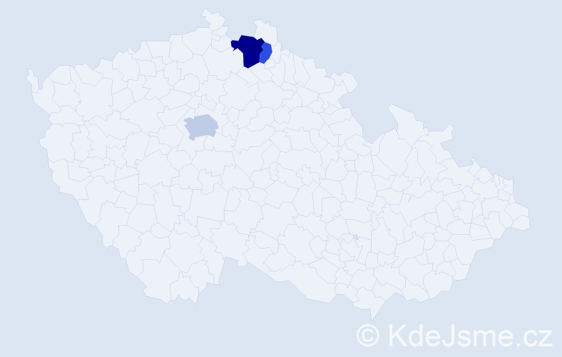 Příjmení: 'Eskiev', počet výskytů 6 v celé ČR