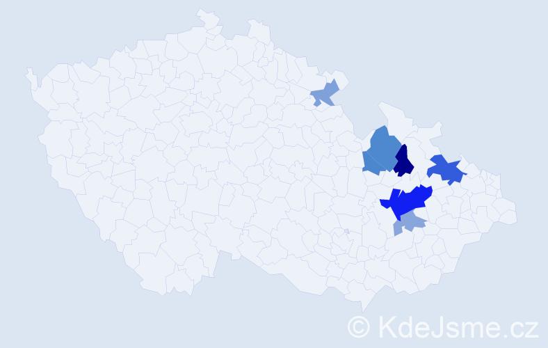 Příjmení: 'Hansmann', počet výskytů 14 v celé ČR