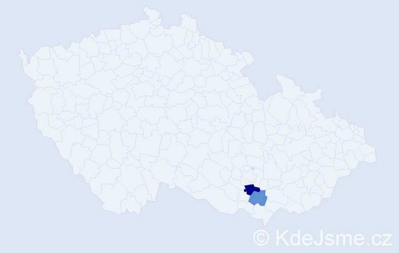 Příjmení: 'Dedina', počet výskytů 3 v celé ČR