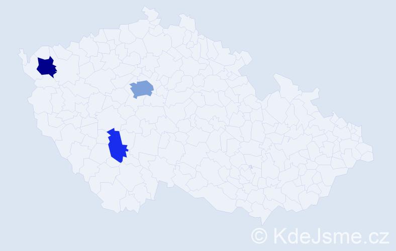 Příjmení: 'Čerňavský', počet výskytů 8 v celé ČR